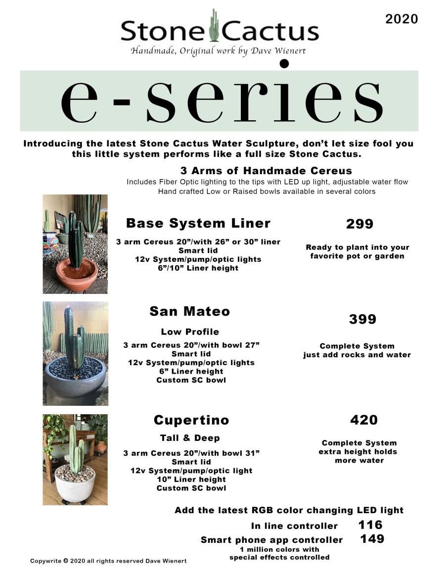 e series new price sheet
